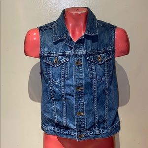 Madewell Denim Jean vest jacket
